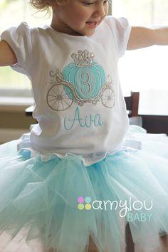 Carro de Cenicienta princesa cumpleaños niño camiseta