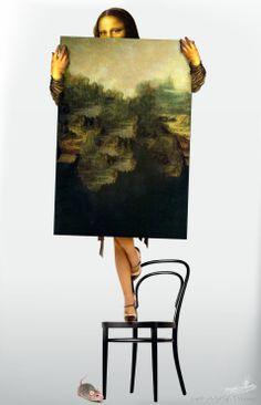 by why is fears Gioconda ? Monnalisa Kids, Lisa Gherardini, Mona Friends, Mona Lisa Parody, Mona Lisa Smile, Visual Metaphor, Italian Artist, Cultura Pop, Van Gogh