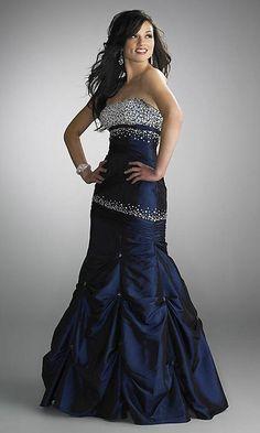 #Navy #Prom #Dress