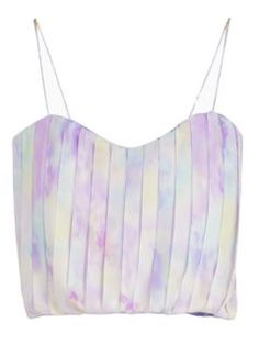 Shop Purple Green Bodycon Camis Crop Top With Pleat Details from choies.com .Free shipping Worldwide.$8.99