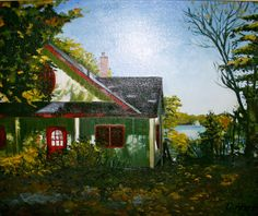 Landscape Paintings, Cabin, House Styles, Home Decor, Art, Homemade Home Decor, Craft Art, Landscape, Kunst