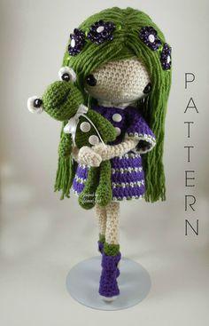 Noviembre muñeca Amigurumi Crochet patrón por CarmenRent en Etsy