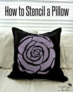 How to stencil a pillow with Royal Design Studio Stencils - Art Deco Rose Flower Craft Wall Art Stencil - Perfect for family activity and DIY decorating daughter's room