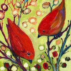Bird Wall Art - Painting - The Neverending Story No 2 by Jennifer Lommers Birds Painting, Art Prints, Modern Birds, Jennifer Lommers, Animal Art, Fine Art America, Painting Prints, Art, Bird Art