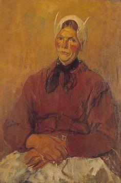 Portret van een wasvrouw uit Soest Verv.jaar:1875/1930 Olie #Soest #Eemland #Utrecht