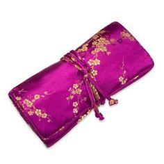Silk Brocade Jewelry Roll