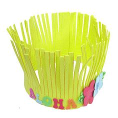 Supply Beachcomber Hat Craft Kits at your luau or topical celebration for children of all ages!