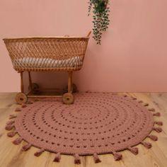 Tapis Design, Brown Rug, Boho Baby, Hand Crochet, Baby Love, Bassinet, Kids Room, Child Room, Carpet
