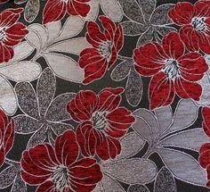 Potahová látka LUKS554 bordo .Potahová látka v šířce 140cm s květinovým vzorem. Černý podklad, lesklé lístečky, žinylkové květy v barvě bordo.  Dovoz z Turecka. Možnost velkoobchodního prodeje potahových látek.  Materiál: 50% Polyester, 50% chenille. Textiles, Rugs, Painting, Home Decor, Farmhouse Rugs, Decoration Home, Room Decor, Painting Art, Paintings