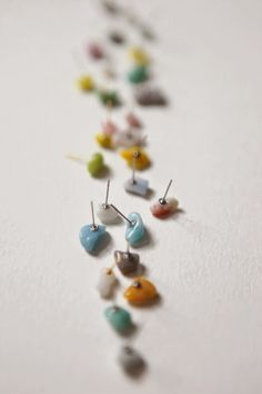 hello, whimsy.: TUTORIAL: pebble studs earrings