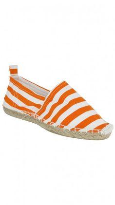 Orange stripe espadrille - perfect for summer!