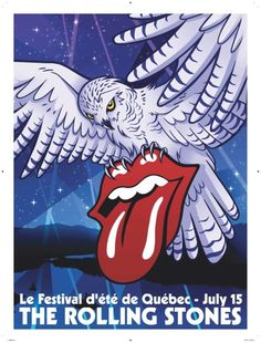 Stones 'Zip Code' FEQ show poster designed by Charlotte Watts and  Alexandra Dickman - July 15, 2015