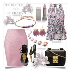 """The Softer Side of Modern"" by helenaymangual ❤ liked on Polyvore featuring Monica Vinader, Miss Selfridge, IRO, Lipstick Queen, Chloé and modern"
