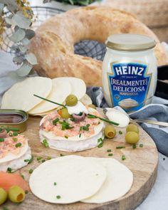 """Buenos días! Hoy en el blog otra de mis """"recetas para torpes""""! Estas tartaletas de atún salmón y mayonesa Heinz #realmentedeliciosa son ricas resultonas y superfáciles de hacer. Quién se apunta?  (link directo en bio) #MGrecetasparatorpes by macarenagea"""