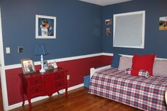 Red and blue boy's bedroom