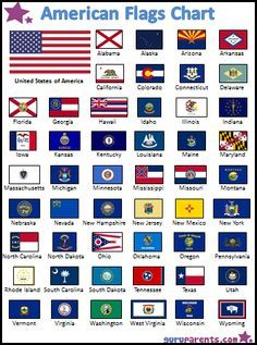 how to use the chart this colorful chart features all 50 united states flags the flags are arranged in alphabetical order with the
