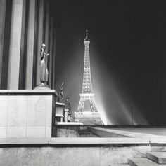 """ Eiffel Tower "" Paris, about 1954-1959. photo: Kees Scherer"
