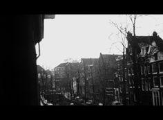 #1975 Studio view Oude Zijds Achterburgwal II towards Het Binnengasthuis #Amsterdam #winter