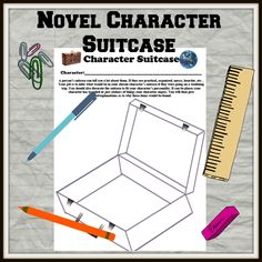Novel character suitcase. What would they pack? Ponyboy would always have at least a book and his hair grease!