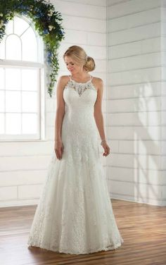 D2445 Sparkling Boho Wedding Dress by Essense of Australia