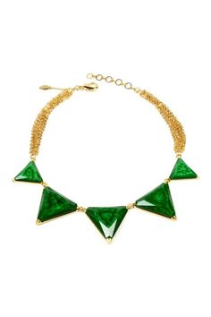 A striking statement necklace in this season's hottest hue: Bermuda Necklace by Amrita Singh