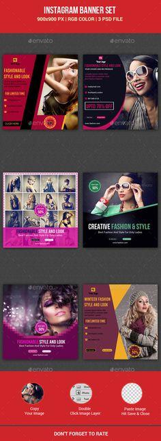 Fashion Instagram Banner Templates