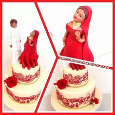 Bride and bridegroom indian cake toppers 1 by Naazneen