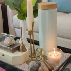 Coffee Table Vignette and Box Makeover   Looksi Square