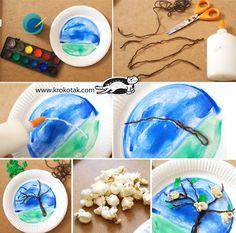 Popcorns i drzewa w kwiecie Animal Crafts For Kids, Spring Crafts For Kids, Toddler Crafts, Diy For Kids, Creative Activities, Creative Kids, Craft Activities, Preschool Crafts, Montessori Art