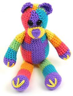 Caron Rainbow Bear by Deb Richey