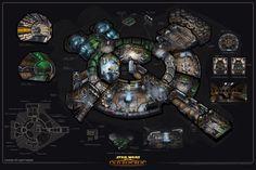 ArtStation - Smuggler Ship Interior: Star Wars (2009), Ryan Dening