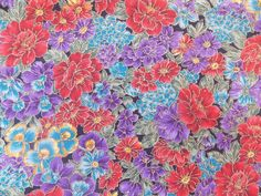 WtW Estate Fabric Hoffman Floral Country Side Metallic Nature Garden BTY Quilt