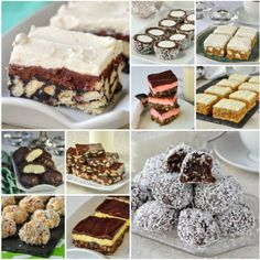 No Bake Christmas Cookies - 15 easy recipes that are freezer friendly too! A collection of popular no bake cookies that are perfect for Christmas treats. Best Pecan Pie, Pecan Pie Bars, No Bake Desserts, Dessert Recipes, Easy Desserts, Baking Recipes, Cookie Recipes, Pineapple Squares, Chocolate Biscuit Cake