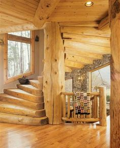 13 Best Log Home Stairs Images Log Homes Rustic Homes Staircase
