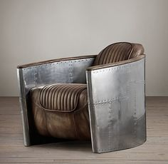 """Aviator Chair...serious """"guy"""" seating..........<3 it!!"""