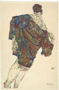 Egon Schiele - Erlösung, 1913, Opaque color, pencil on Japanese vellum, 48 x 32 cm, Albertina, Vienna