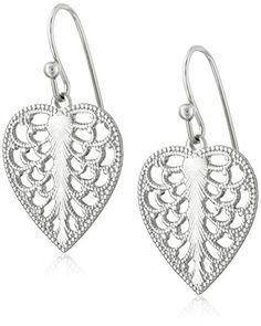 1928 Jewelry Mini Heart Filigree Drop Earrings best price  1928 Jewelry best price