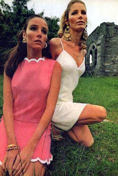 1960s fashion  Our look was feminine.  Loved the spaghetti strap dresses with a full skirt.