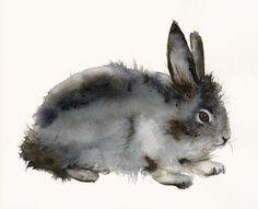 Roughian - Rabbit Art. $20.00, via Etsy.  Gorgeous texture