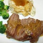 Oven Baked Pot Roast wrapped in Foil - Onion Soup Mix & Cream of Mushroom Soup