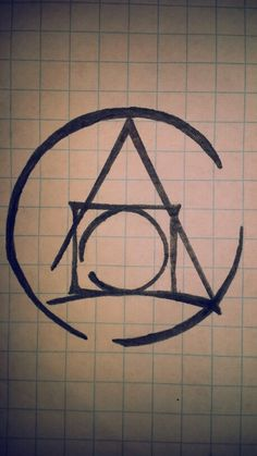 Modern design of the Philosopher's stone alchemy symbol. Great for tattoo!