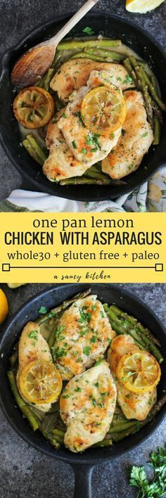 One Pan Lemon Chicke #paleopantryideas