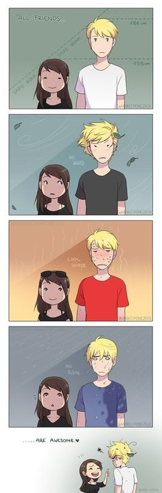 Heh, this is totalllllllllly true...first day of school people thought I was my taller friends little sister...