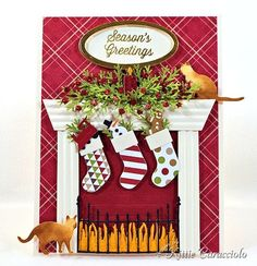 My project today was made for the Splitcoaststampers Inspiration Challenge. The inspiration site this week was South House Designs and I totally fell in love with the 2013 Christmas Stocking Round-Up. Handmade Christmas Crafts, Christmas Cards To Make, Christmas Paper, Xmas Cards, Christmas Stockings, Holiday Cards, Memory Box Cards, Elizabeth Craft Designs, Window Cards