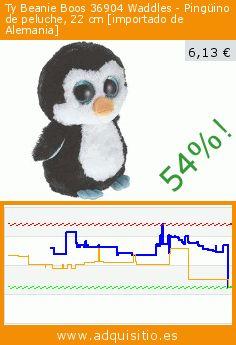 Ty Beanie Boos 36904 Waddles - Pingüino de peluche, 22 cm [importado de Alemania] (Juguete). Baja 54%! Precio actual 6,13 €, el precio anterior fue de 13,38 €. https://www.adquisitio.es/ty/beanie-boos-36904-waddles