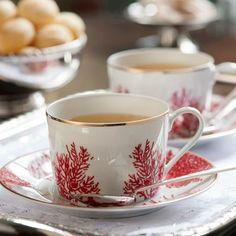 Set de Chá Corais do Brasil Limoges