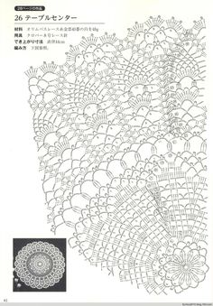 Kira crochet: Crocheted scheme no.Photo from album Suteki Pineapple Crochet Laces on Yandex.The most beautiful napkins with crochet pattern pineapple - Handmade-Paradise Crochet Doily Diagram, Crochet Doily Patterns, Crochet Chart, Thread Crochet, Filet Crochet, Crochet Stitches, Knitting Patterns, Crochet Dollies, Pineapple Crochet