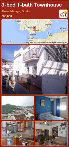 Townhouse for Sale in Alora, Malaga, Spain with 3 bedrooms, 1 bathroom - A Spanish Life Malaga Spain, Meeting Place, Spanish House, Village Houses, Heating And Air Conditioning, Entrance Hall, Private School, Double Bedroom, Double Doors