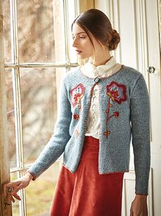 REIVER CARDIGAN from Rowan Knitting and Crochet Magazine No. 60 (ZM60). Featuring 2 Stories Tempest & Felted Tweed | English Yarns