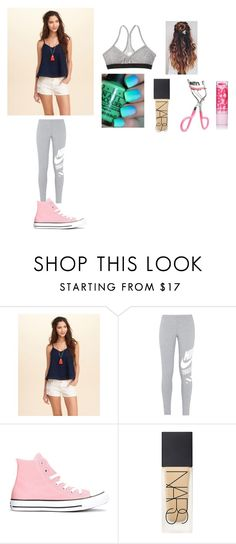 """""""Mckenna's Outfit 3"""" by brooklyn-953 ❤ liked on Polyvore featuring Hollister Co., NIKE, Converse and NARS Cosmetics"""
